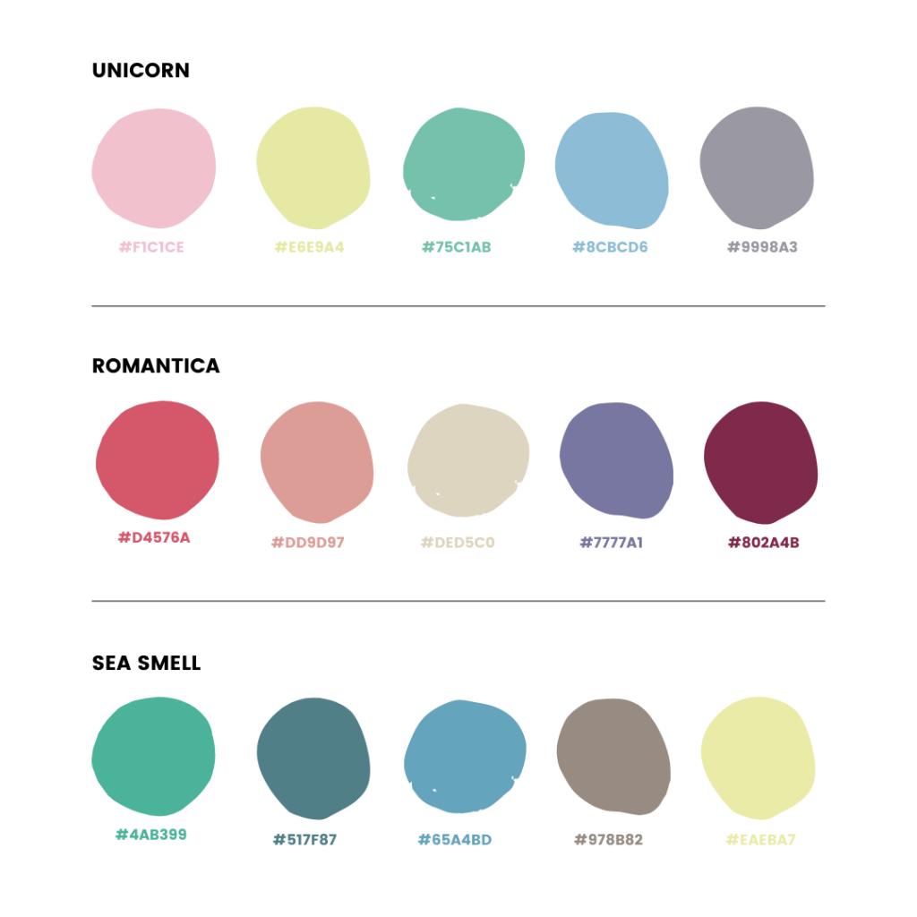 Palette colori Instagram - armocromia Estate