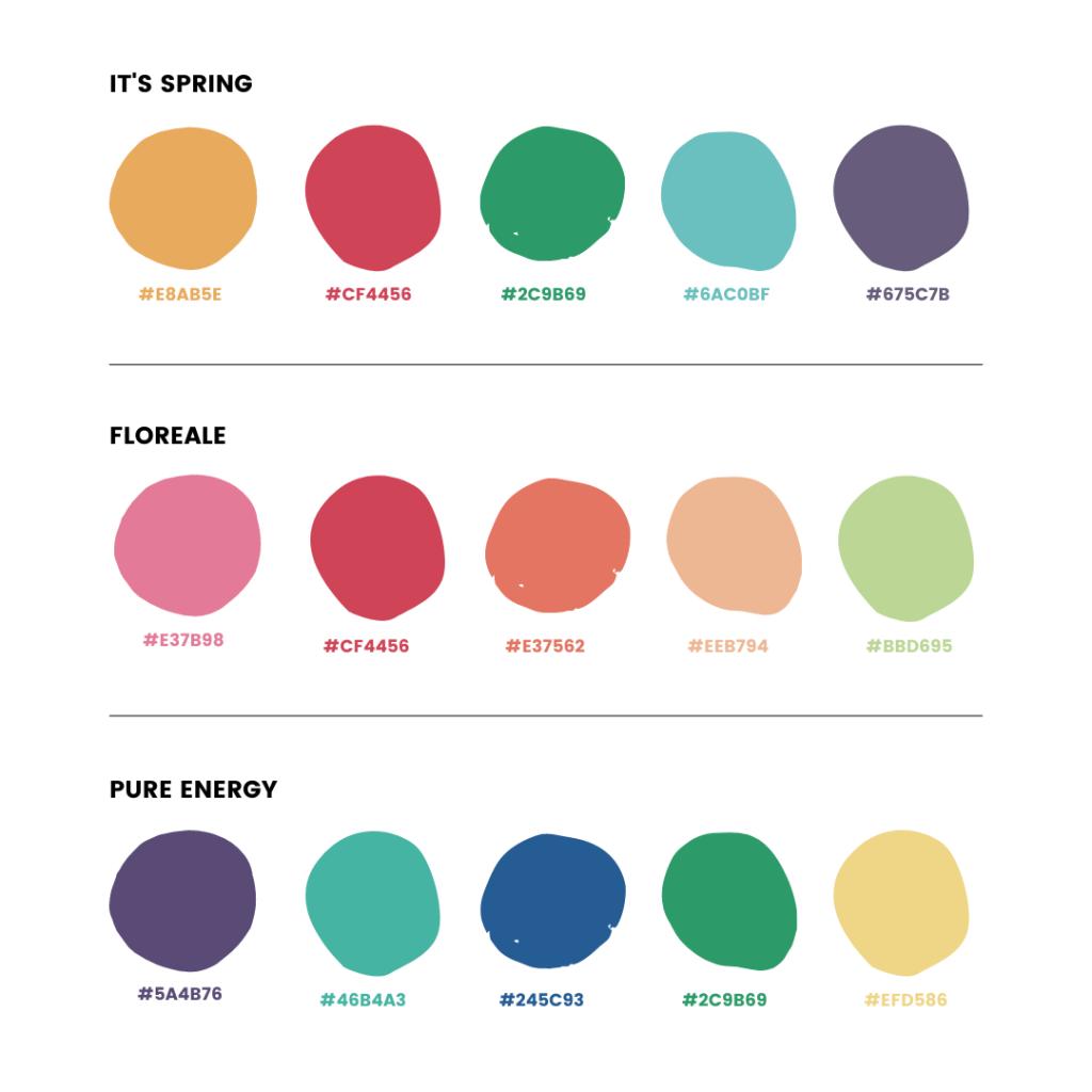 Palette colori Instagram - armocromia Primavera